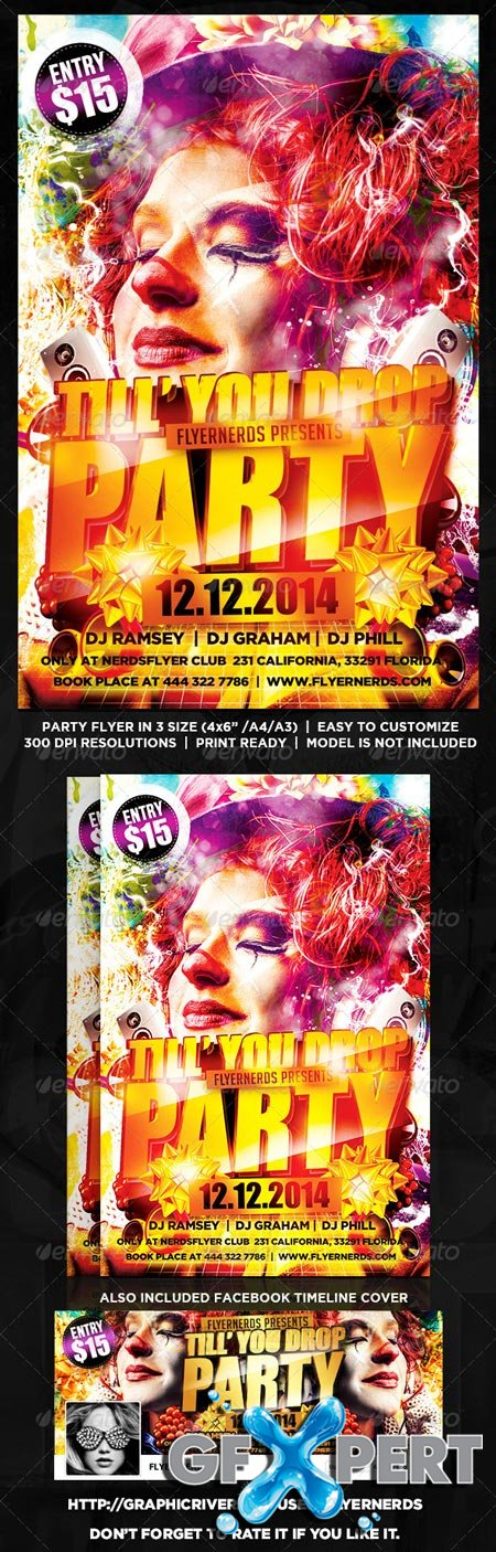 GraphicRiver Till You Drop Party Flyer 8601970