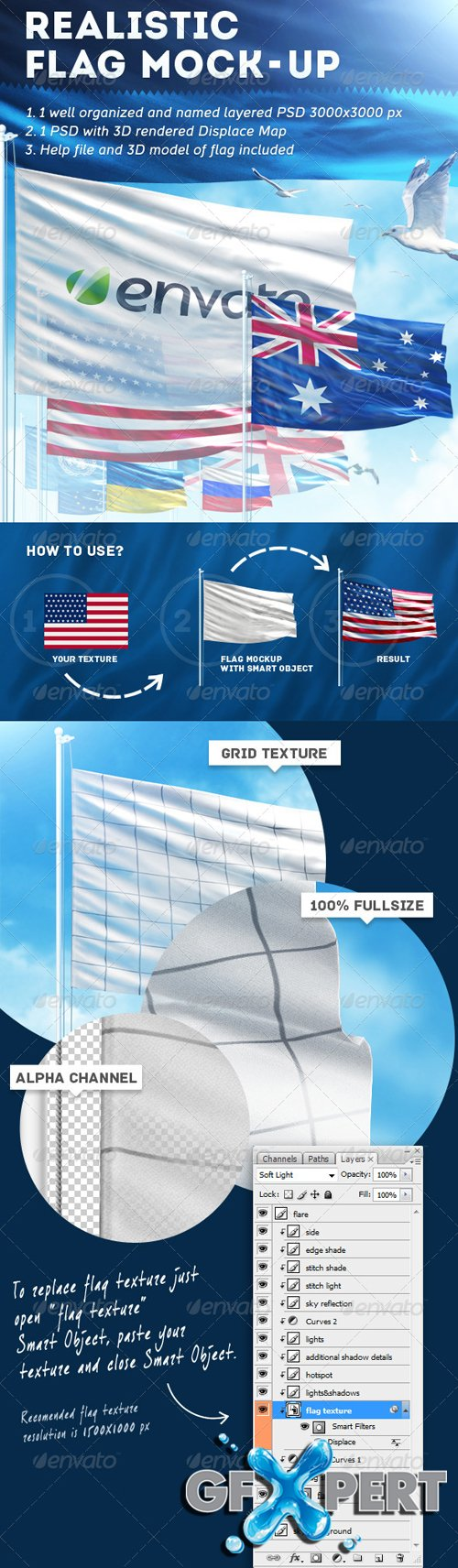 Realistic Flag Mock-Up