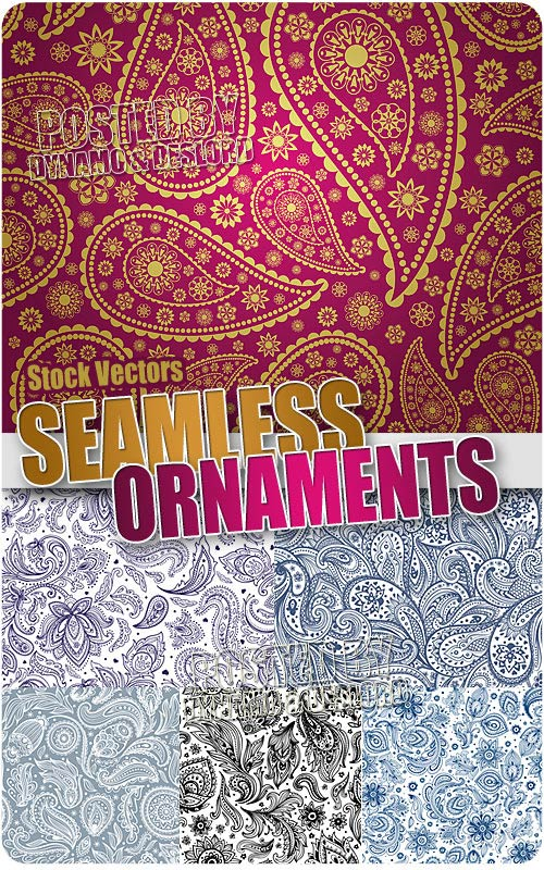 Seamless ornaments - Stock Vectors