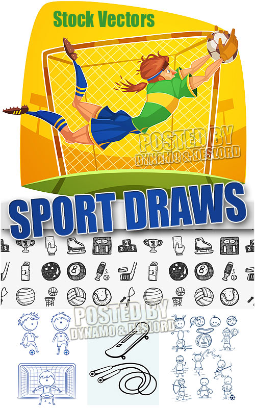 Sport draws - Stock Vectors