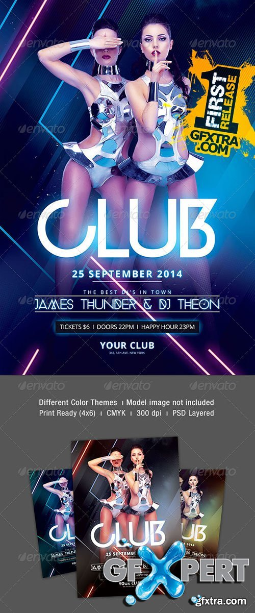 Club Flyer - Graphicriver 8514855