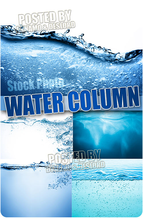 Water column - UHQ Stock Photo