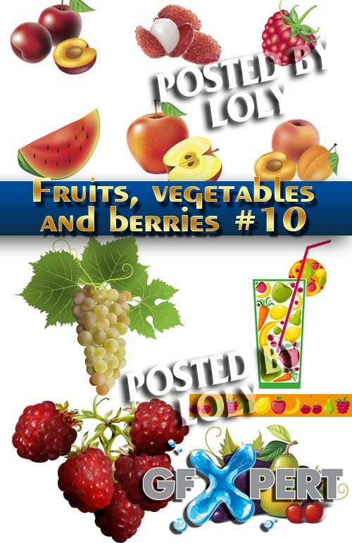 Fruits, vegetables and berries #10 - Stock Vector