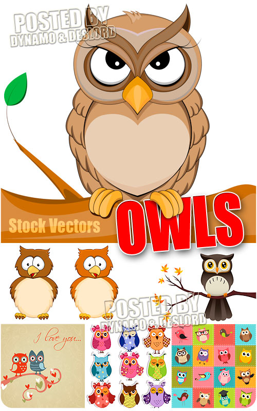 Owls - Stock Vectors
