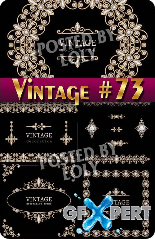 Vintage backgrounds #83 - Stock Vector