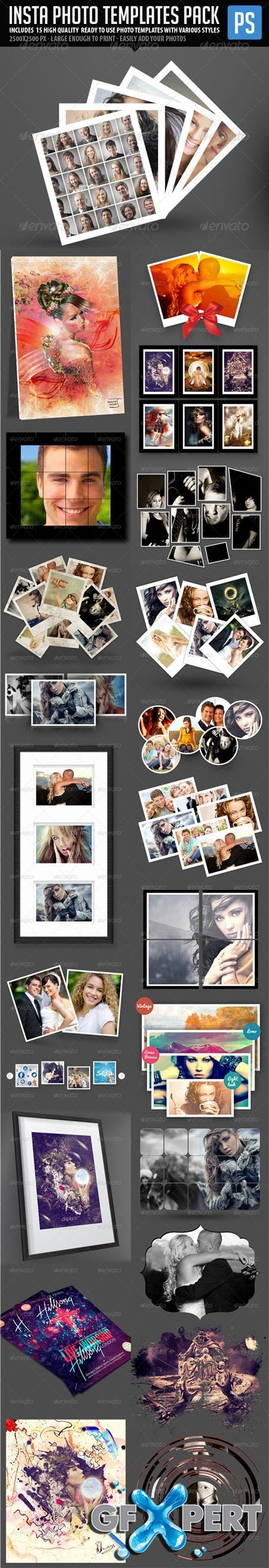 GraphicRiver - Insta Photo Templates Pack (23in1) 6063139