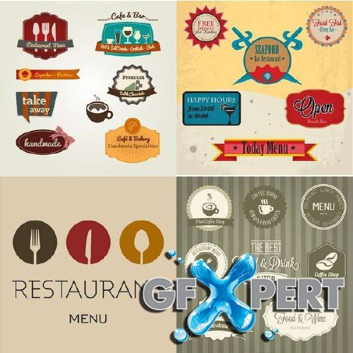 Restaurant vector logos set