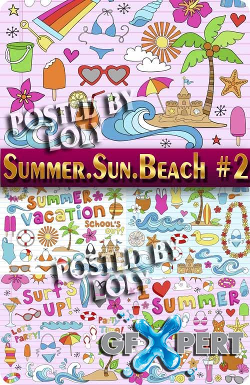 Summer. Sun. Beach #2 - Stock Vector