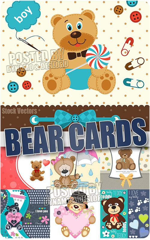 Bear cards - Stock Vectors