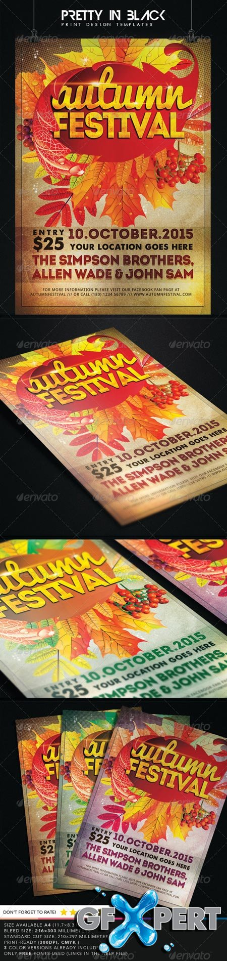 GraphicRiver Autumn Festival Flyer 8751721
