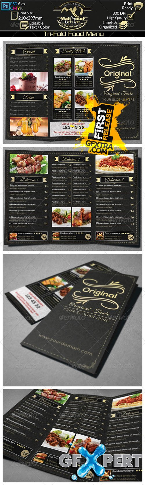 Graphicriver - Restaurant Food Menu Trifold 8432372