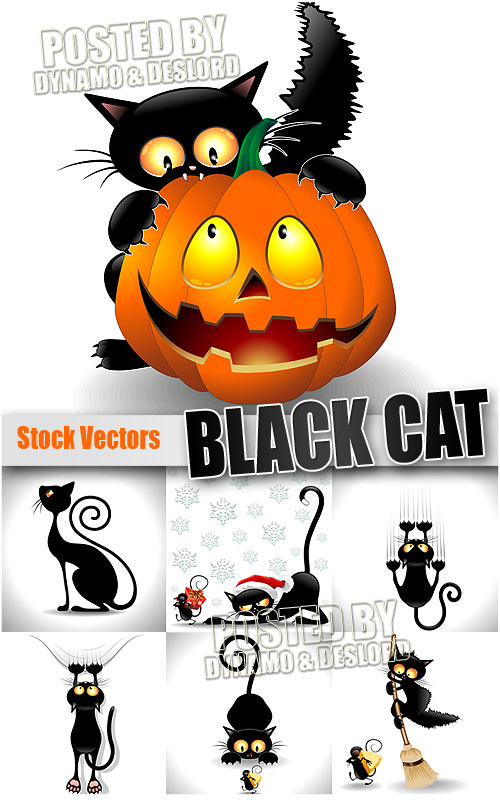 Black cat 2 - Stock Vectors