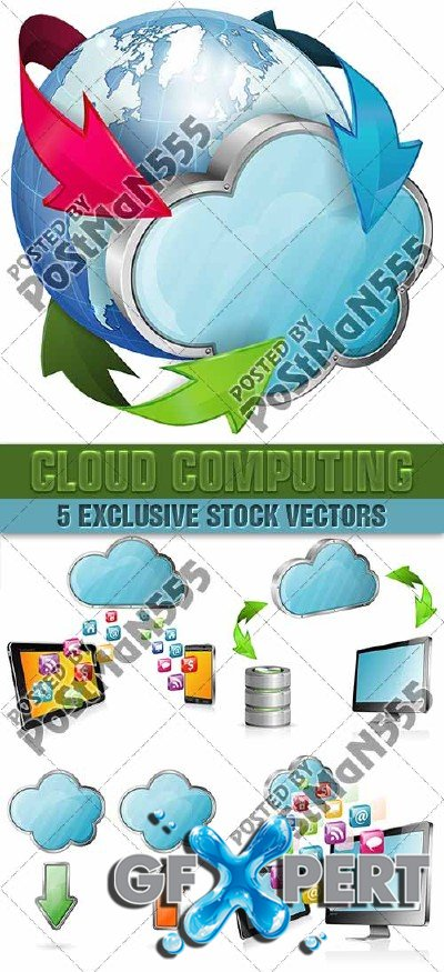 Cloud Computing, 4 - VectorStock