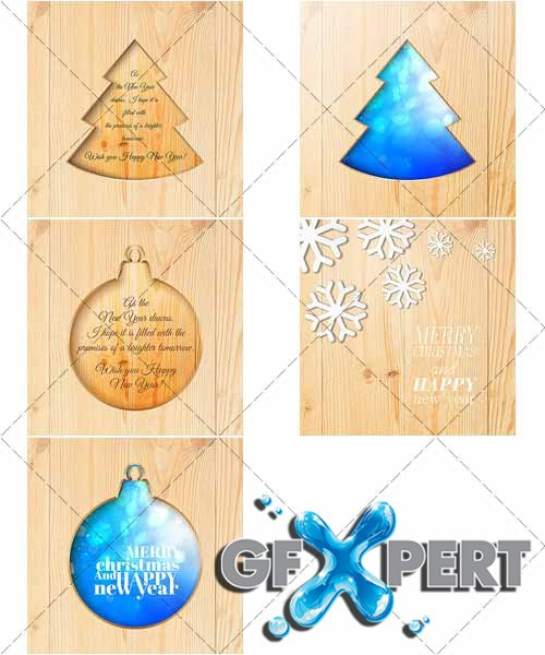 Beautiful backgrounds for Christmas and New Year, 8 - VectorStock
