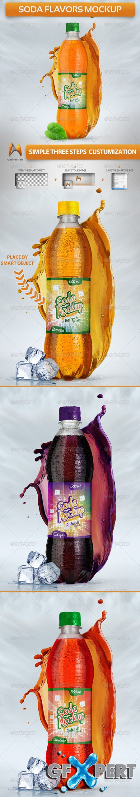 GraphicRiver Soda Flavors Mock-Up 5125032