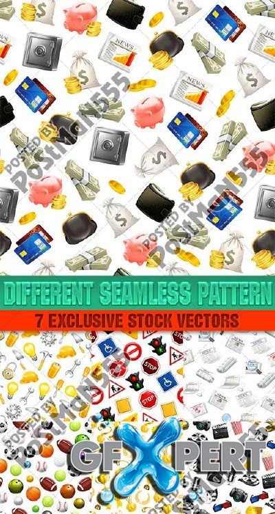 Universal seamless patterns - VectorStock