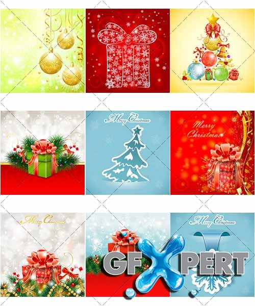 Beautiful backgrounds for Christmas and New Year, 9 - VectorStock
