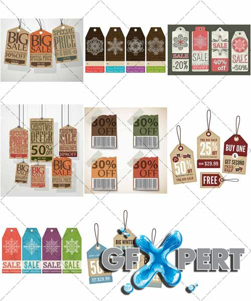 Vintage Retail Tags - VectorStock