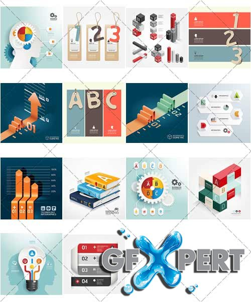 Design templates for enterprises, infographics 13, VectorStock