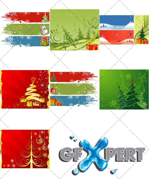 Beautiful backgrounds for Christmas and New Year, 10 - VectorStock