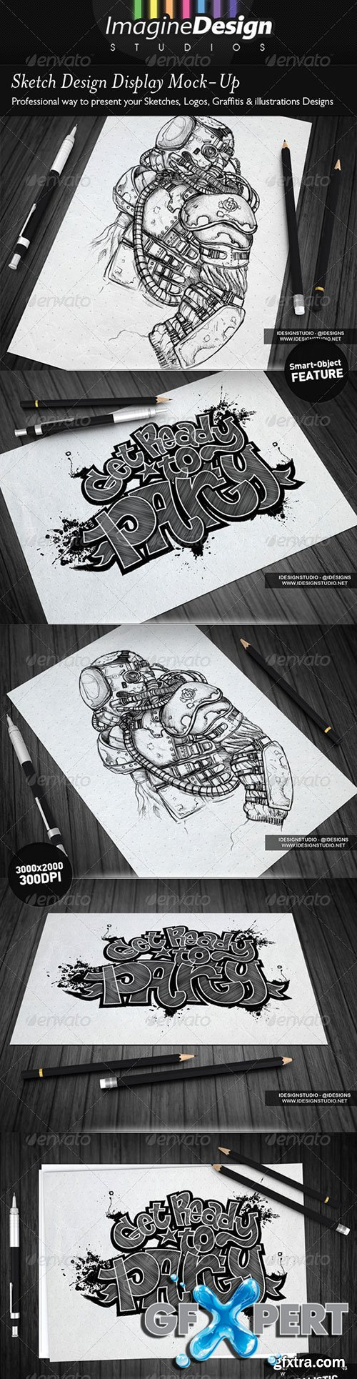 GraphicRiver - Sketch Designs Display Mock-Up