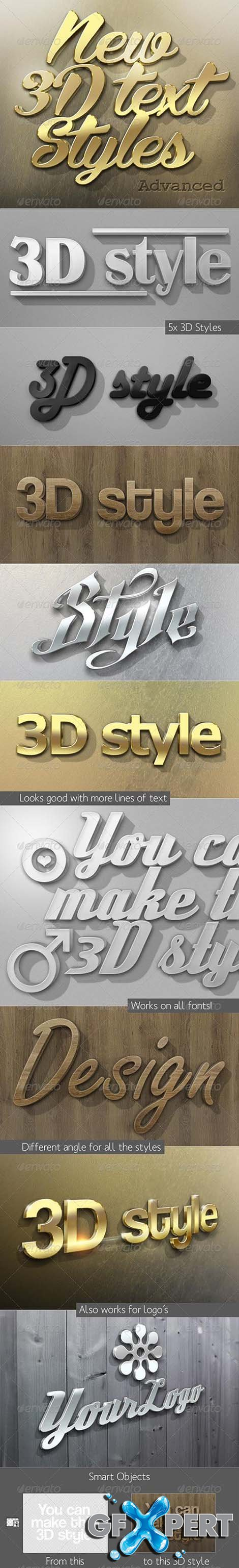 New 3D Text Styles Advanced 3803506