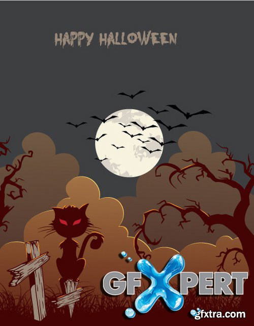 Happy Halloween Vector Set 2