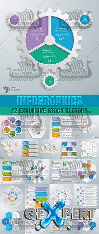 Design templates for enterprises, infographics 14 - VectorStock
