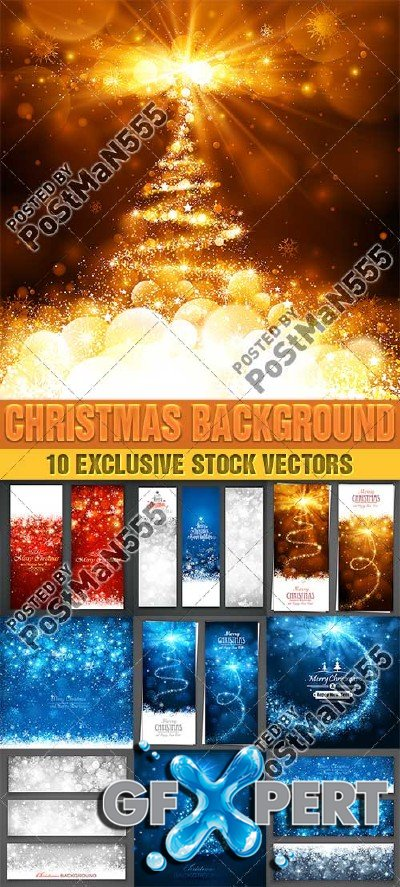 Beautiful backgrounds for Christmas and New Year, 11 - VectorStock
