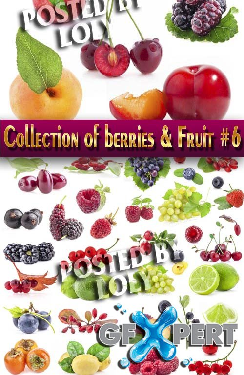 Food. Mega Collection. Berries and Fruits #6 - Stock Photo