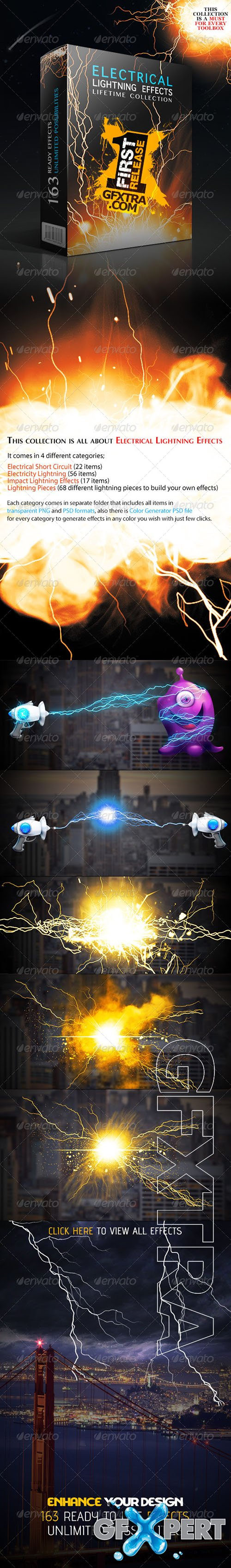 Graphicriver - Electrical Lightning Effects Collection 4693696
