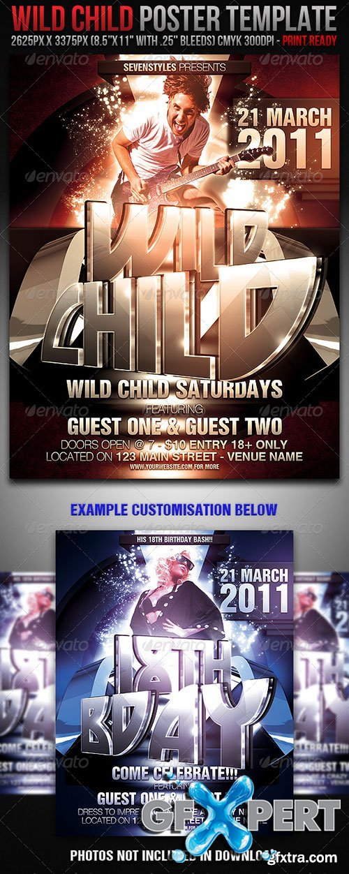 GraphicRiver - WildChild Poster/Flyer Template