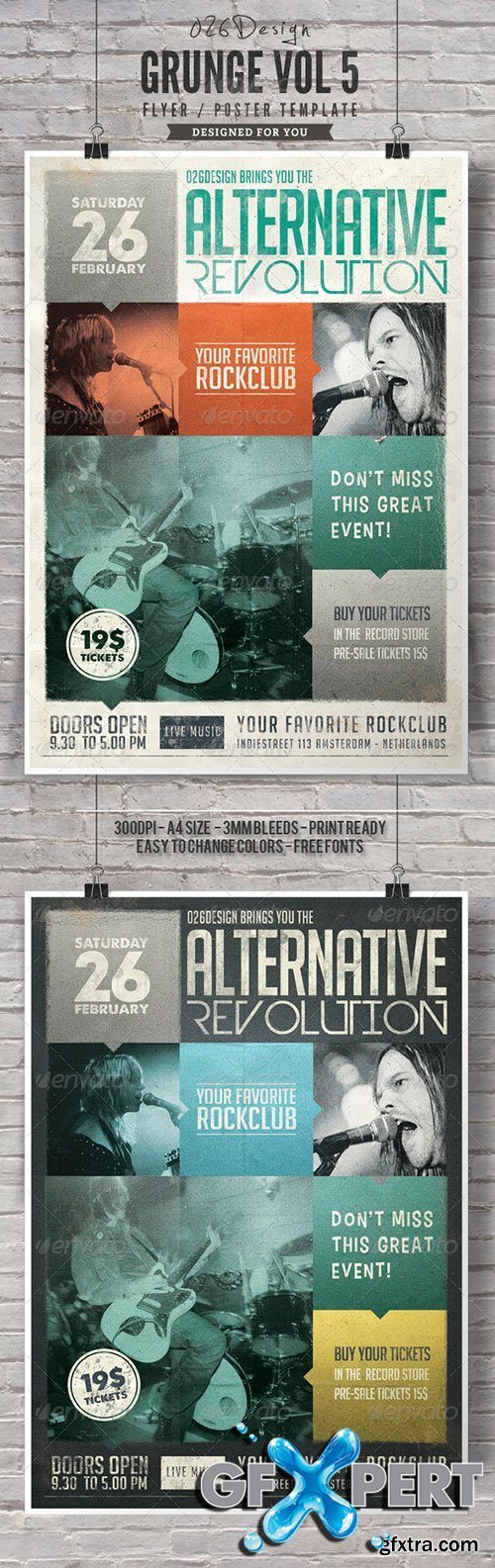 GraphicRiver - Grunge Poster / Flyer Vol V