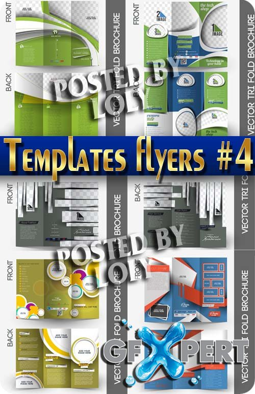 Flyer templates #4 - Stock Vector