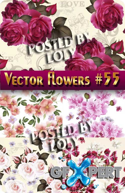 Vector Flowers #55 - Stock Vector