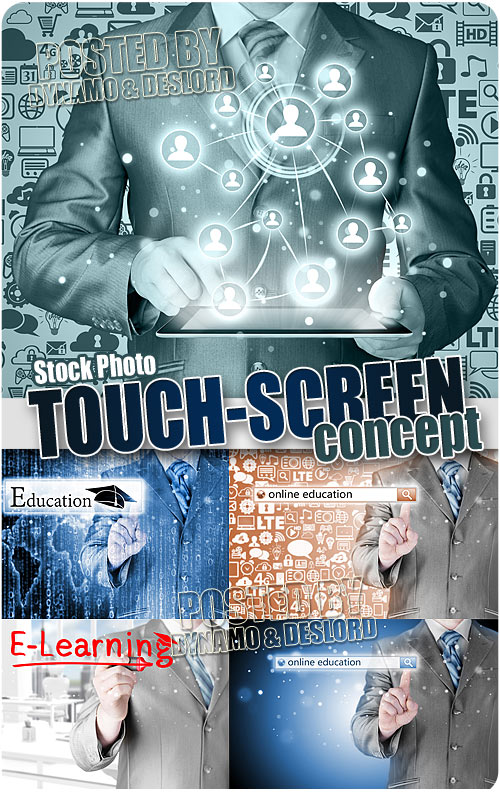 Touch screen concept - UHQ Stock Photo