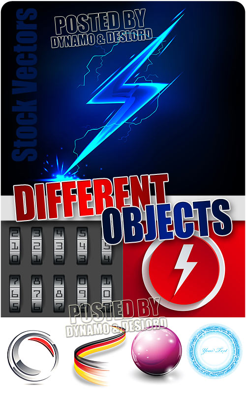 Different objects - Stock Vectros