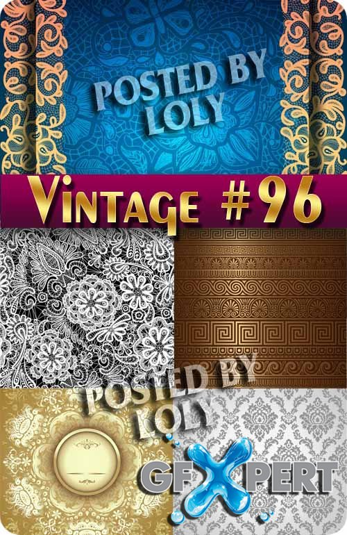 Vintage backgrounds #96 - Stock Vector