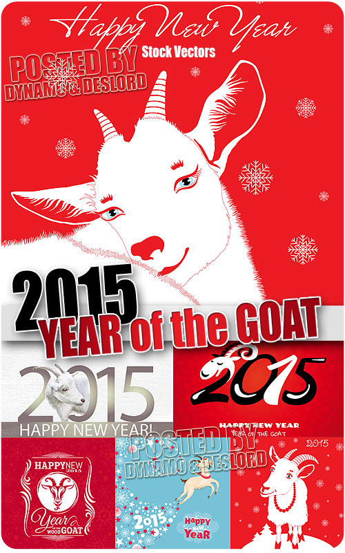 2015 Year of the Goat 3 - Stock Vectors