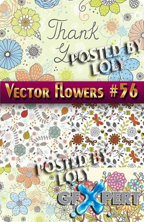 Vector Flowers #56 - Stock Vector