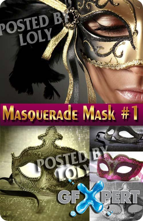 Masquerade masks #1 - Stock Photo