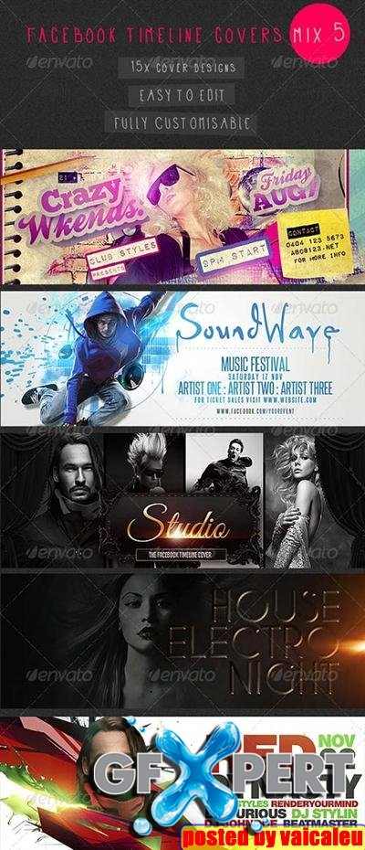 Facebook Timeline Covers Mix 5 - 15 Templates GraphicRiver 1
