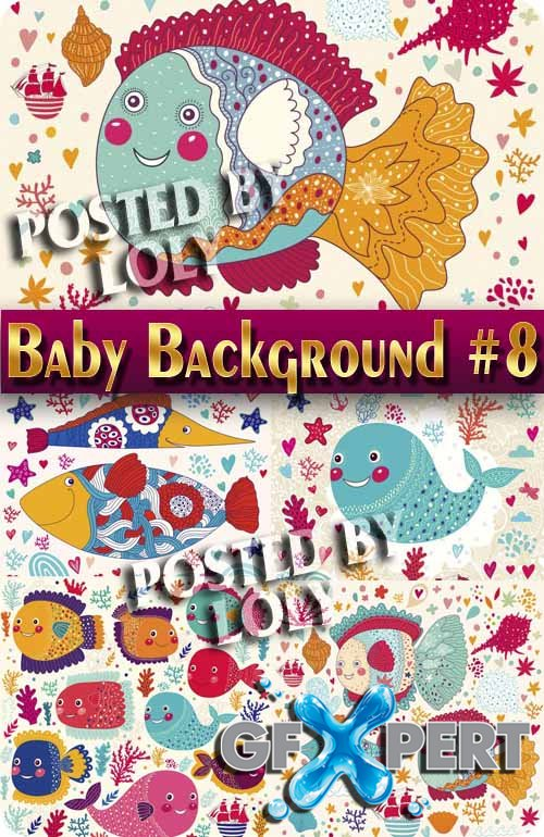 Baby backgrounds #8 - Stock Vector