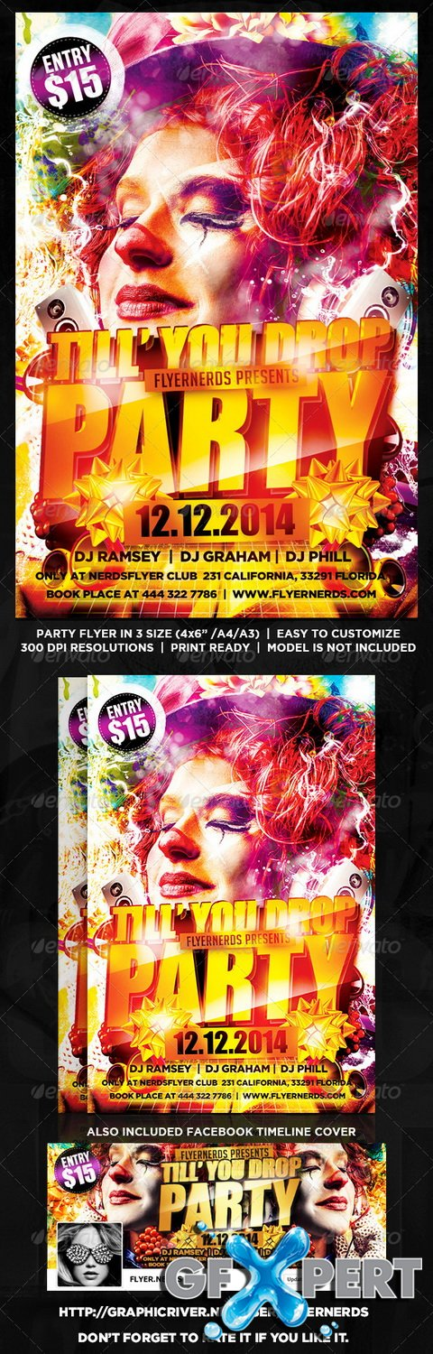 GraphicRiver - Till You Drop Party Flyer - 8601970