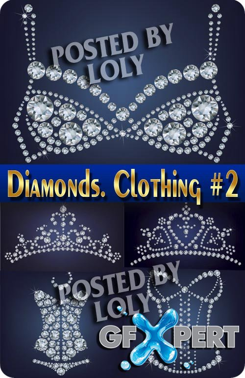 Diamonds. Clothing and Accessories #1 - Stock Vector