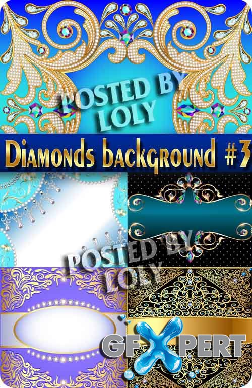 Backgrounds of precious stones and diamonds #3 - Stock Vector