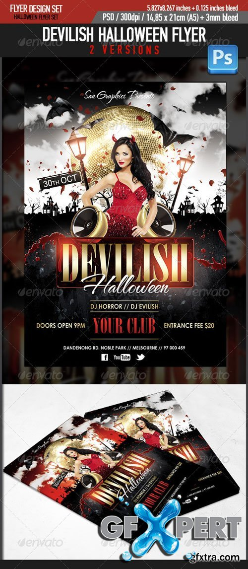 GraphicRiver - Devilish Halloween Glamour Flyer Template