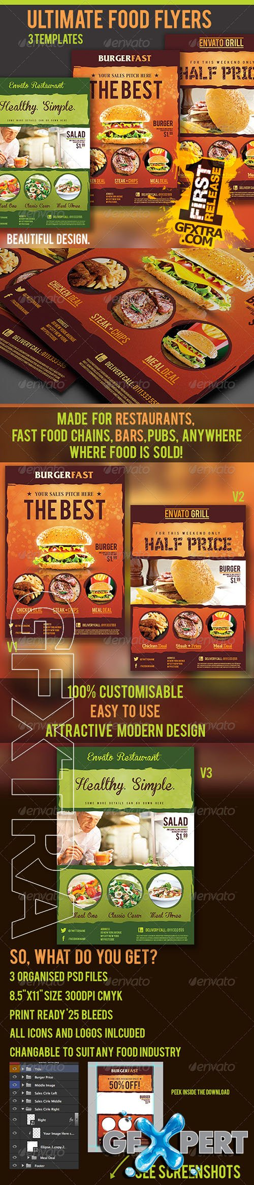 Graphicriver - Ultimate Food Flyers 3511812