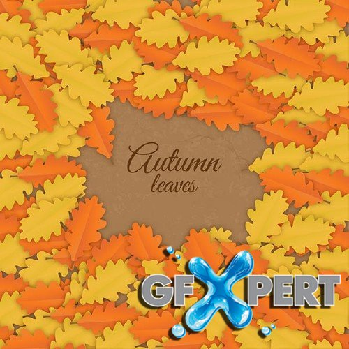 Autumn banners, backgrounds, leaves stock vector
