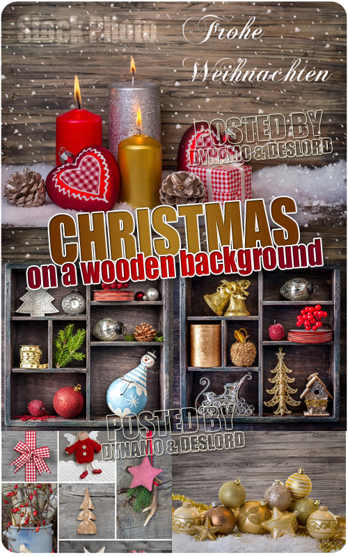 Christmas on a wooden background - UHQ Stock Photo